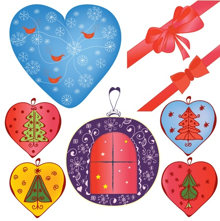 Christmas design elements and decorations Vector