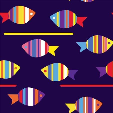 물고기 재미 원활한 패턴 밝은