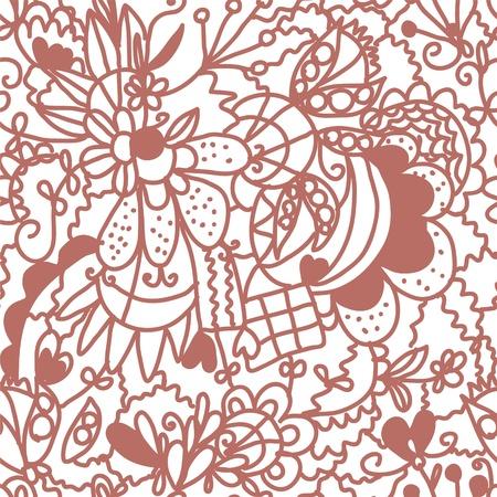 Floral valentine seamless wallpaper ornate Vector