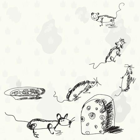 manjar: Ratones cómicas y dibujos animados de queso