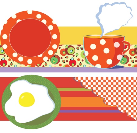 Food banners for cafe or restaurant Stock Vector - 12488512