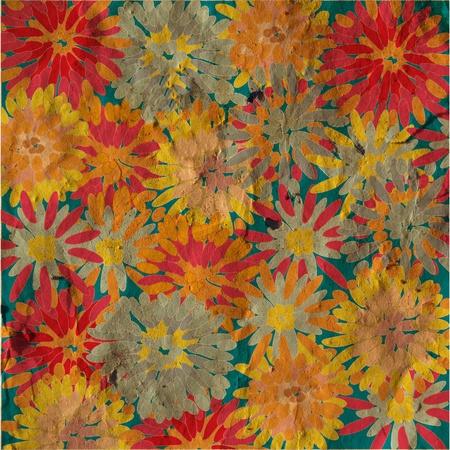 Grunge floral background vintage card Stock fotó