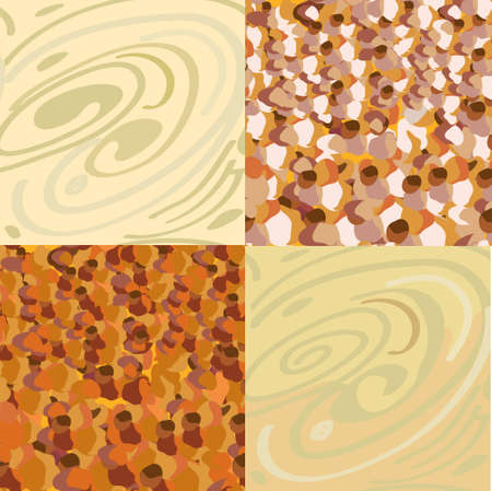 Wood, stone seamless patterns set Stock Vector - 12785412