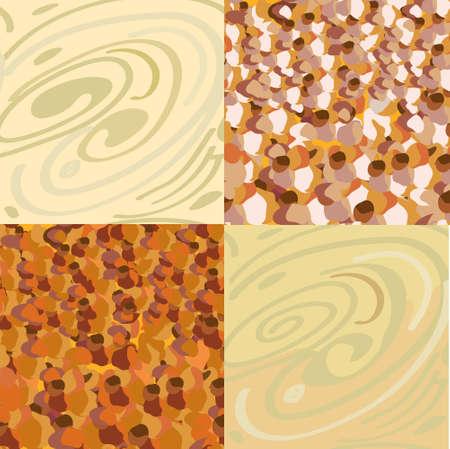 Wood, stone seamless patterns set Stock Vector - 12785412