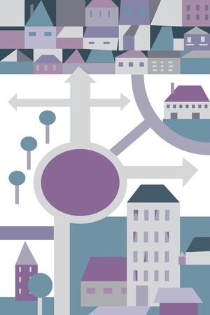City plan cartoon for children Vector