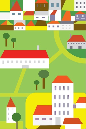 Town funny background for children Vector