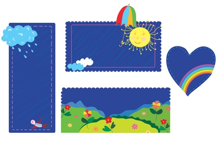 Weather funny banners and frames Vector