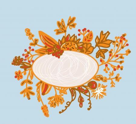 Frame for autumn - hand-drawn design Stock Vector - 15033482