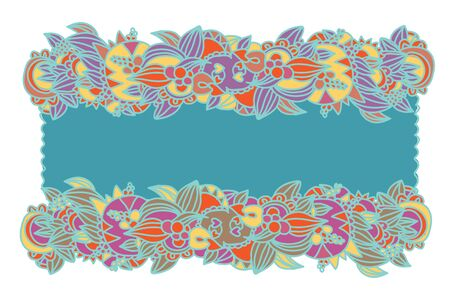 Floral ethnic frame hand-drawn design Stock Vector - 15480037