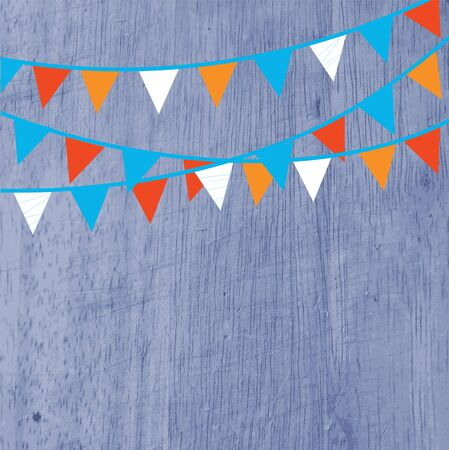 Background for party with flags and texture Vector