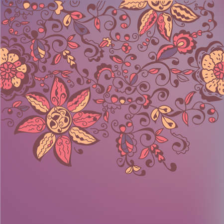 Floral ornate banner with traditonal decor Vector