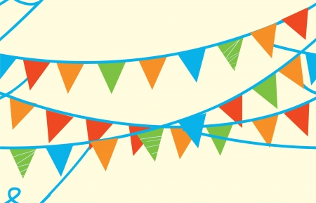 triangular banner: Seamless banner with flags for kids Illustration