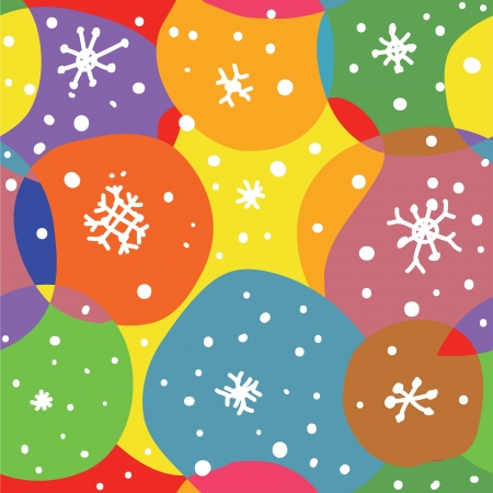 Abstract christmas seamless pattern with circles and snow Stock Vector - 15968348