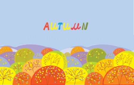 Autumn trees banner with text Stock Vector - 16262548