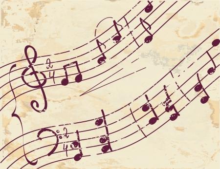 clave de fa: Nota musical de fondo de la textura del papel