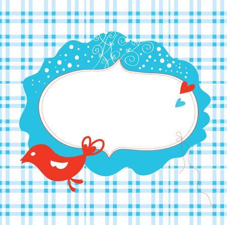 Christmas card with frame and bird Stock Vector - 16456583
