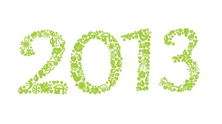 2013 year ecology sign with symbols Vector