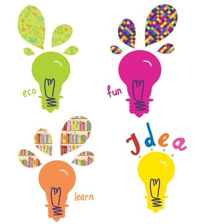 Light bulbs ideas and concepts funny design Stock Vector - 17105994