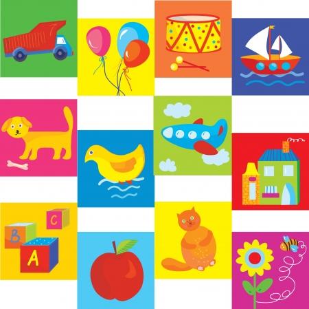 Jouets et symboles définis pour bébé et enfant