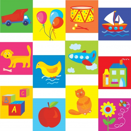 Toys and symbols set for baby and child Stock Vector - 17260498