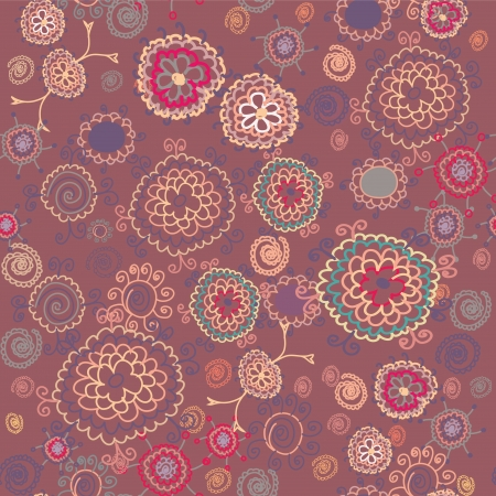 african fabric: Floral seamless pattern ethnic design  Illustration
