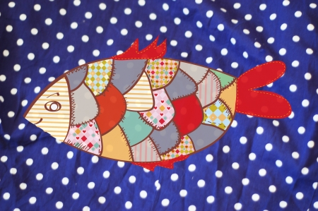 Fish textile  background funny design photo