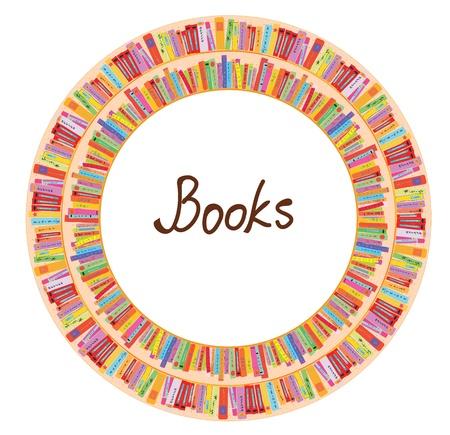 많은 항목이 책 프레임 원형 디자인