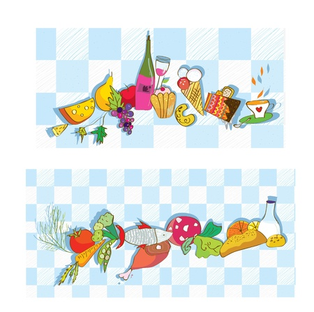 Food banners for restaurant and cafe set Vector