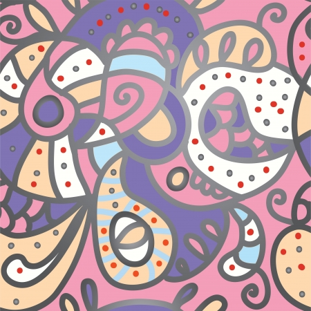 Paisley seamless pattern for silk textile  Vector