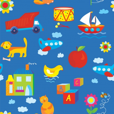 Baby toys seamless funny pattern