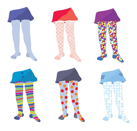 tights: Children tights set with funny patterns