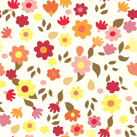 Floral seamless cute pattern simple design  Vector