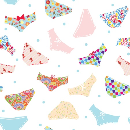 Pants seamless funny pattern cute design  Vector