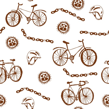 bycicle: Bycicle funny seamless pattern grunge design