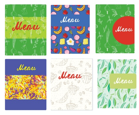Menu templates funny design for cafe and vegetarian restaurants Stock Vector - 20882139