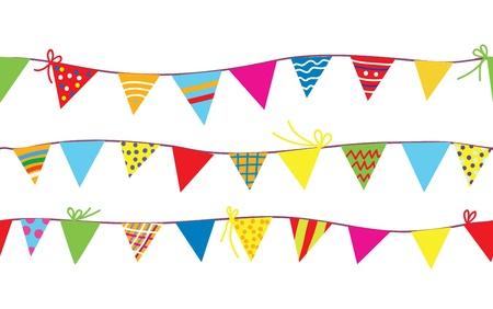 아이들을위한 깃발 천 플래그와 원활한 패턴 일러스트