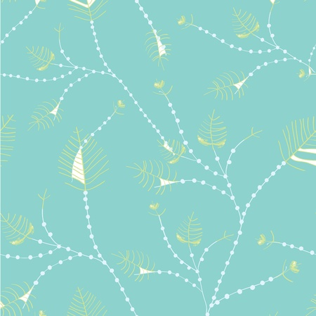 Leaves seamless whimsical pattern - pastel colors design Vector