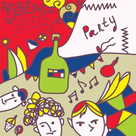 Party invitation funny design background Vector