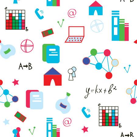 Science symbols seamless pattern funny design Stock Vector - 24058960