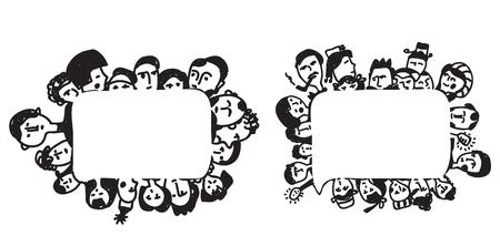 People frame - psychologies or business concept illustration Vector