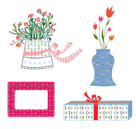 flower boxes: Presents boxes and flowers holidays set