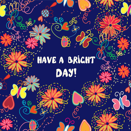 Greeting card - have a nice day illustration Vector