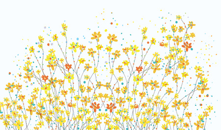 Floral banner with daffodil flowers cute design Vector