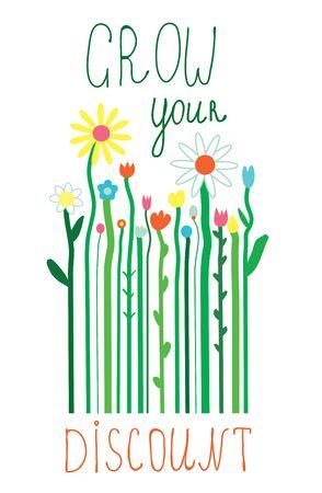concepto: El concepto de venta de primavera y verano - ilustraci�n con flores