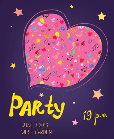 bacground: Party funny bacground for birthday or music event - vector illustration