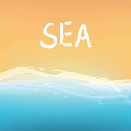 Sea and sand abstract background design, vector illustration Illustration