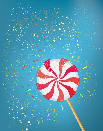 Lollie pop grappige achtergrond - vector grafische illustratie