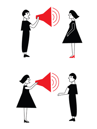 Man and woman conflict and communication in pairs