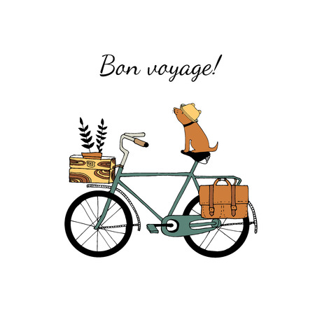 Vintage bicycle illustration 向量圖像