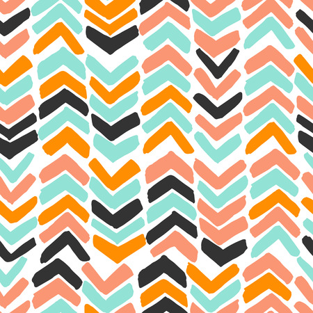 paint swatch: Hand drawn chevron. Colorful abstract background with brush strokes zig zag.?